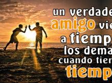 Un verdadero amigo viene a tiempo los demás cuando tienen tiempo